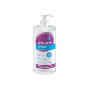 Απολυμαντικό gel  χεριών 80% detrasept ΕΟΦ 1LT